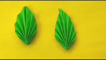 Easy way to make Paper flowers leaves DIY  Bodoidiea  BodoCraft Episode-2