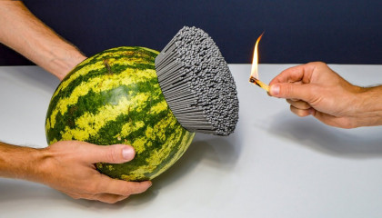 Shockwave Experiment 5000 Sparklers vs Watermelon