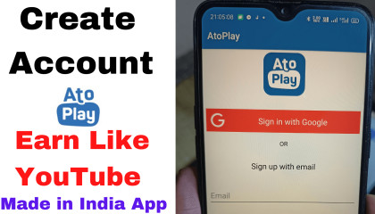 How To Create Channel on AtoPlay From Mobile | Rangila Tube  Create Channel |Earn Money