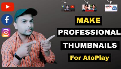 How To Make Professional Thumbnail For YouTube Videos  YouTube Thumbnail कैसे बनायें