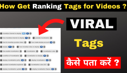Viral TAGS Kaise Pata Kare  - How get viral Tags for Youtube Videos ? Ranking best Tags for Video