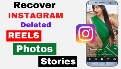 how to recover deleted photos-videos-posts/stories on Instagram  recover Instagram deleted photos