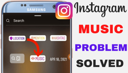 Instagram Story Music Not Working  Instagram Music Option Not Available Problem Solved