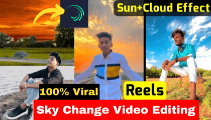Sky colour change video editing  Video colour editing  Reels Video Editing