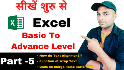 excel part 5Microsoft Excel full course in hindi Part-5  excel tutorial for be
