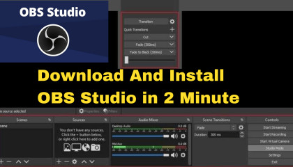 How to install obs studio in windows  How to download live stream obs studio