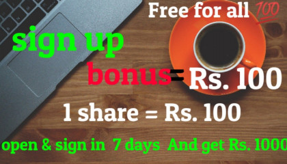 ?Sign up bonus = Rs.100? | ?free for all |☑️