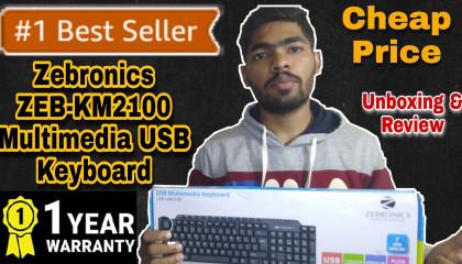 Zebronics zeb-km2100 multimedia usb keyboard Unboxing & Review