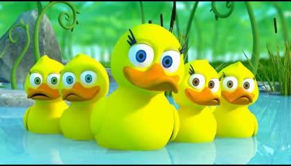 Baby song five little duck
