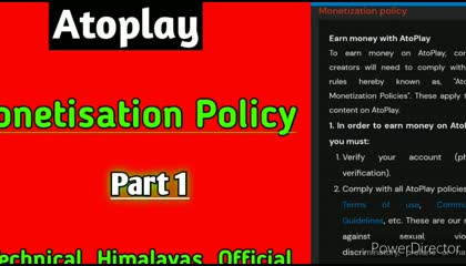 ATOPLAY monetize policy New updates