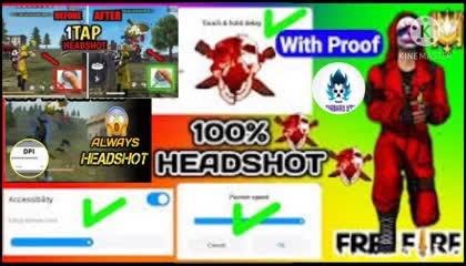 100 % HEADSHOT IN FREE FIRE    HOW TO INCREASE YOUR HEADSHOT SKILLS