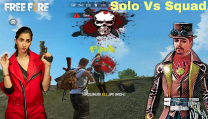 Solo Vs Squad Challenge !! Free Fire 1v4 Best Moment Gameplay !! GAMER ANAND !!