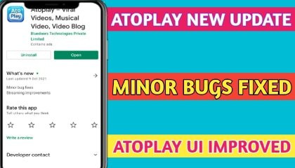 Atoplay New Update !! Minor Bugs Fixed !! TRICKER ANAND !!