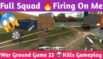 Full Squad Firing On Me !! War Ground Game Ultimate Fight !! GAMER ANAND !!