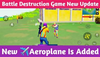 Battle Destruction Game New Update !! New Aeroplane Is Added !! GAMER ANAND !!