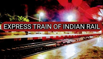 Indian rail express train Bharat Pathik long distance train through train passing from station