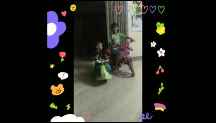 TODDLERS PLAYING WITH THIER CYCLE
