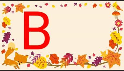 """TEN WORDS STARTING FROM LETTER """"B"""" FOR KIDS  PRESCHOOL KIDS LEARNING"""