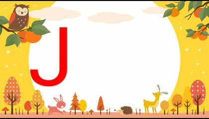 """TEN WORDS STARTING FROM """"J"""" LETTER  KIDS ENGLISH VOCABULARY LEARNING"""