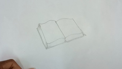 How to Draw Open Book drawing Step by Step   ArtMaker