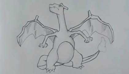 How to Draw Charizard Pokemon   Pancil Drawing   ArtMaker