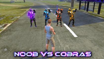 Noob vs Cobra war who will win?!! free fire