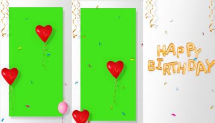 happy birthday green screen effect video   green screen effect status