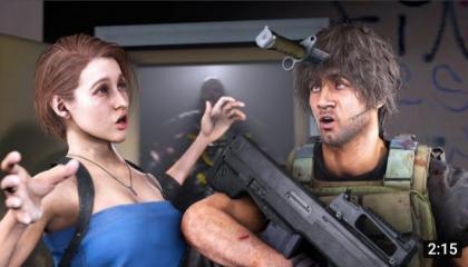 Resident Evil 3 Animation-Jill_s knife skills  are crazy- (SFM)
