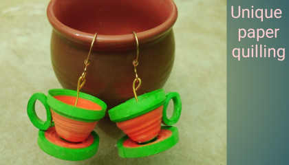 Unique Paper Quilling Earings