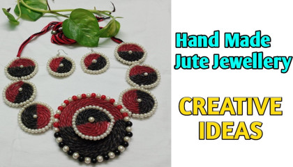 EXCLUSIVE HAND MADE COLOURED JUTE JEWELLERY