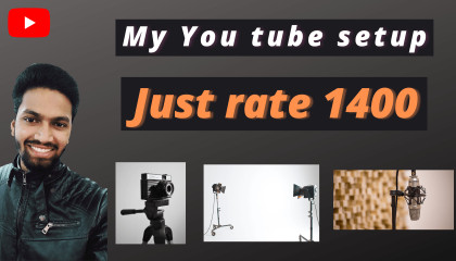 My You tube setup in just 1400 in 2021 by suresh singh