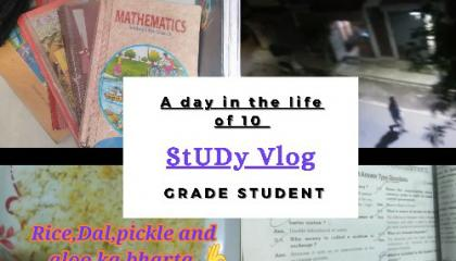 Study Vlog    A Day in the Life of 10 Grade Student    CBSE 10    2021
