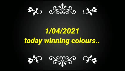 1/04/2021 today winning colours||Babutv||
