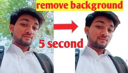 aapke photo ke background ko 5 second mein remove kare, remove background in 5 seconds
