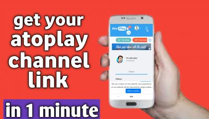how to get atoplay channel link, atoplay ke channel ka link kaise milega