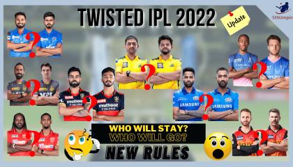 IPL 2022 Retained Players List (Predicted)  IPL 2022 UPDATE