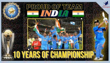 2011 World Cup Final  A Decade Ago India had won the World Cup 2011