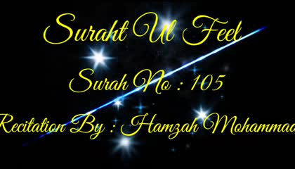 Surah al Feel , surah No : 105