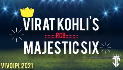 Virat Kohli's majestic six  JOHNRAJ CREATION..