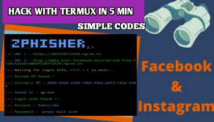How to hack Facebook and Instagram using termux Hack Facebook in 1 sec Hack Facebook in hindi