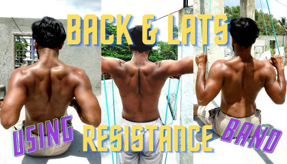 Back and Lats Workout using Resistance Band