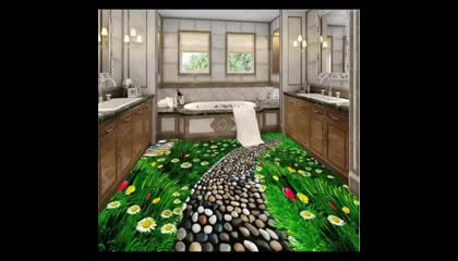 coolest 3D floors created with epoxy