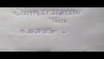 Simplification Short Trick