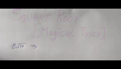 Square Root Short Trick