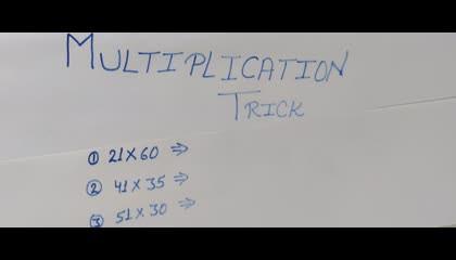 Multiplication Short Trick