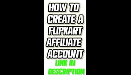 How to create a Flipkart Affiliate Marketing Account. Earn money online from Flipkart. Affiliate