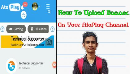 How Upload Banner On Your AtoPlay Channel