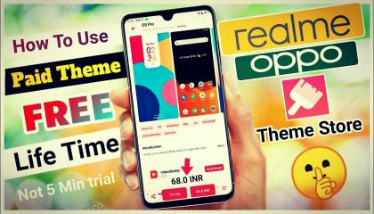 How to Use Any Paid Theme Free for Realme /Oppo Theme Store  Realme Theme Store Paid Theme Use Free
