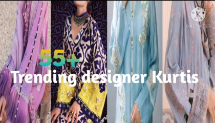 55+ Trending kurti designs with beautiful embroidery & laces designs...