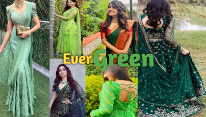 EverGreen dresses collection ♻️ latest collection 👌 For mehandi function , party , Sangeet etc 🎶 HinaStyle